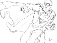 Superman drawing within article.