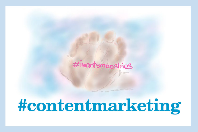 content marketing image of baby feet